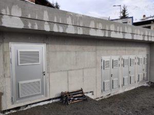 Portes pour boisage de façade