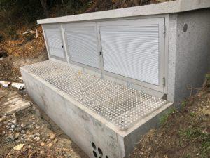 Station transformatrice : entrée du transfo sans enlever le toit / dalles en alu carrossables